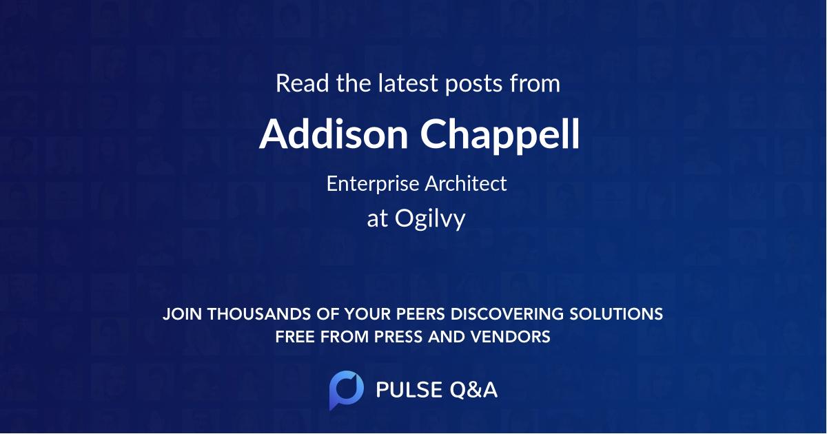 Addison Chappell