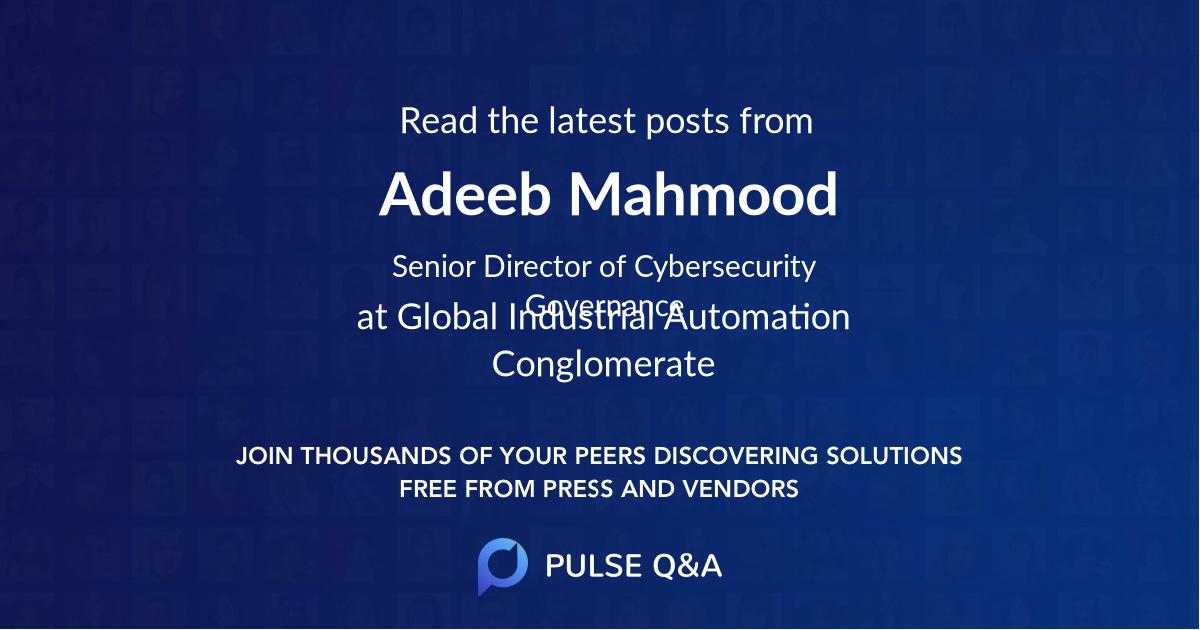 Adeeb Mahmood