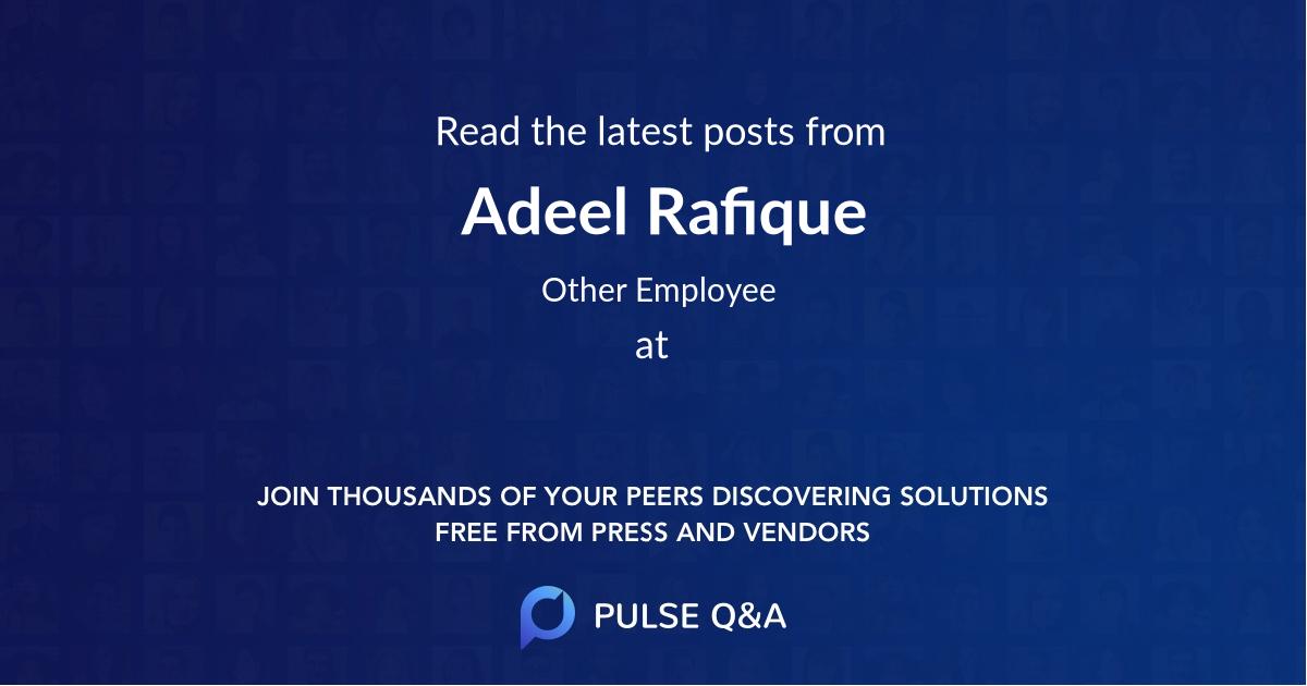 Adeel Rafique