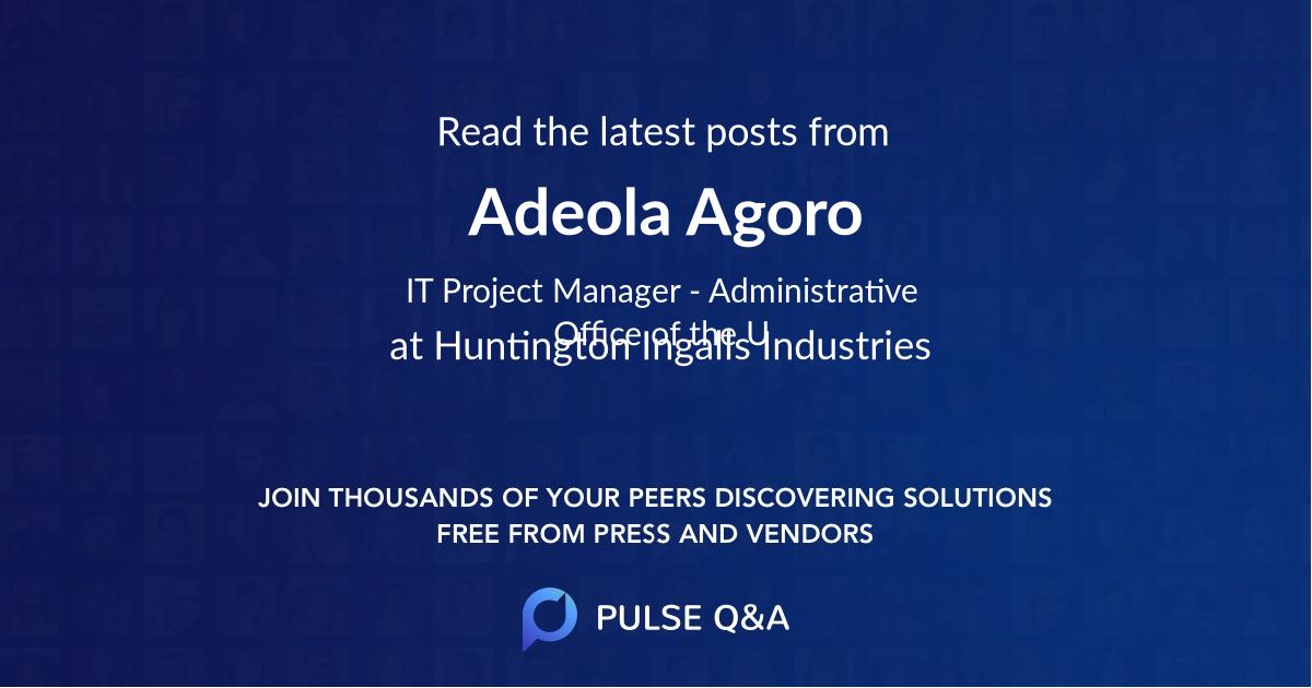 Adeola Agoro