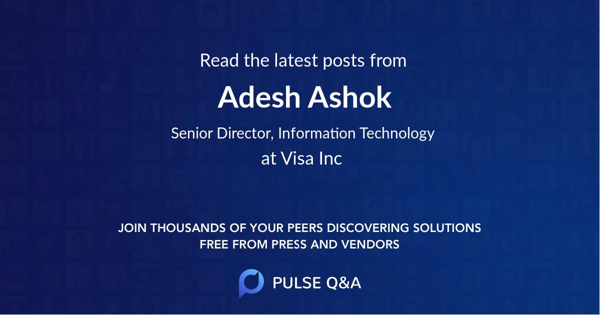 Adesh Ashok