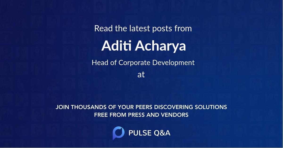 Aditi Acharya