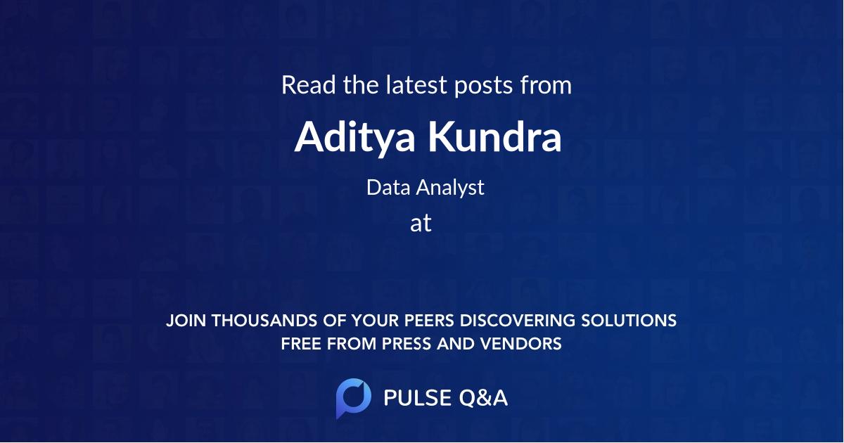 Aditya Kundra