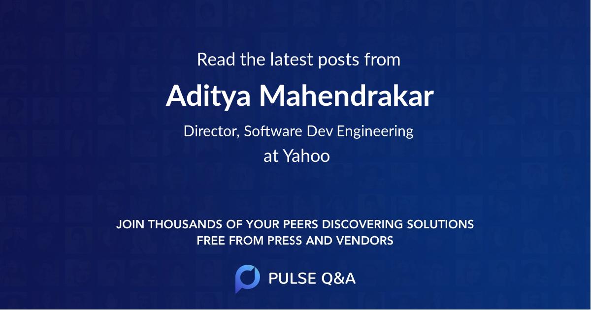Aditya Mahendrakar