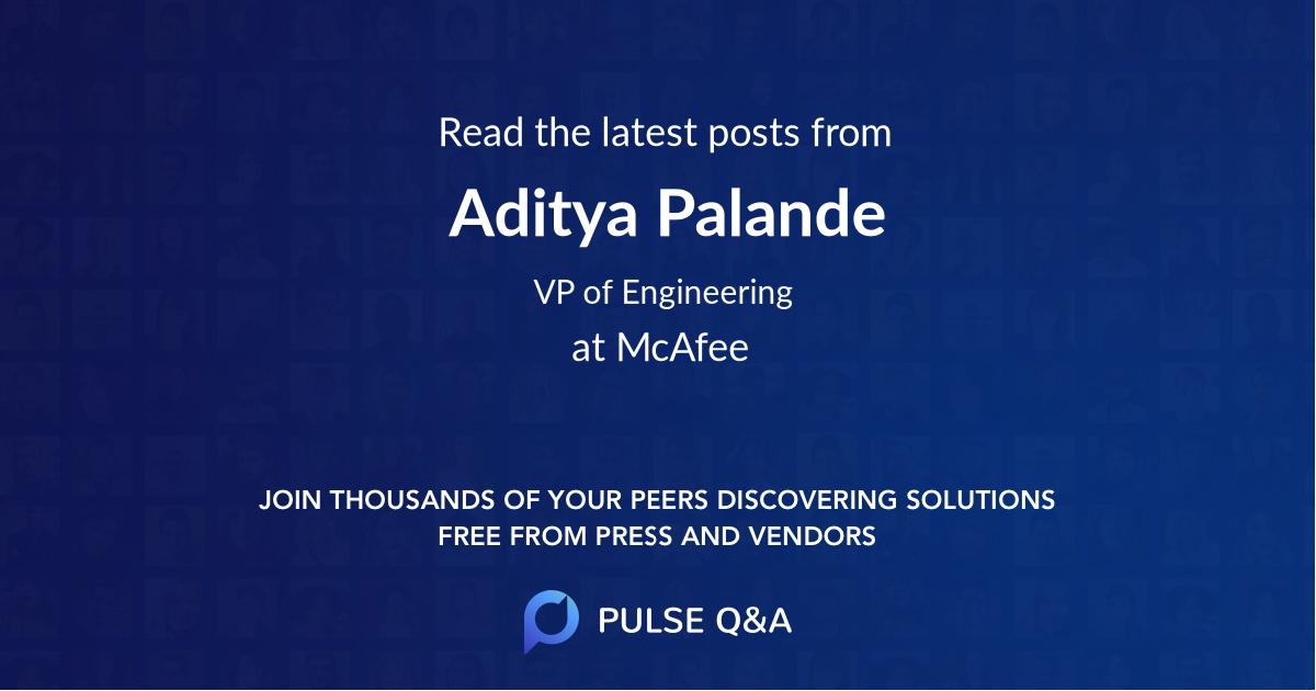 Aditya Palande