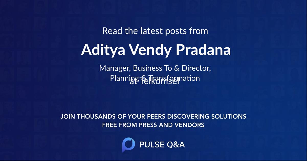 Aditya Vendy Pradana