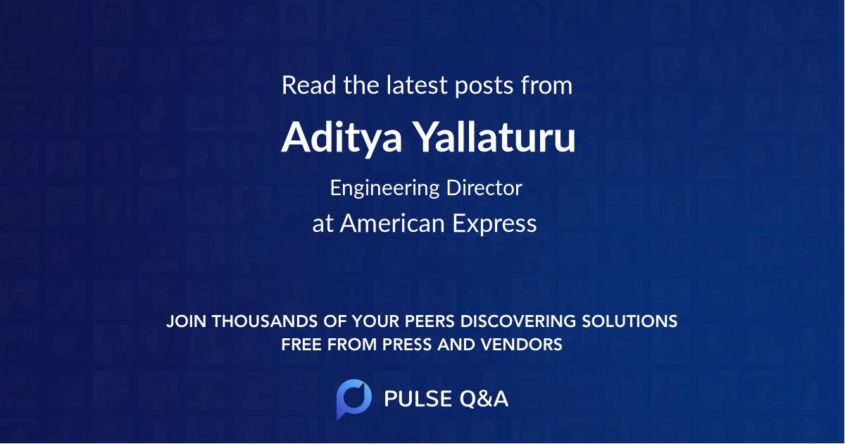 Aditya Yallaturu