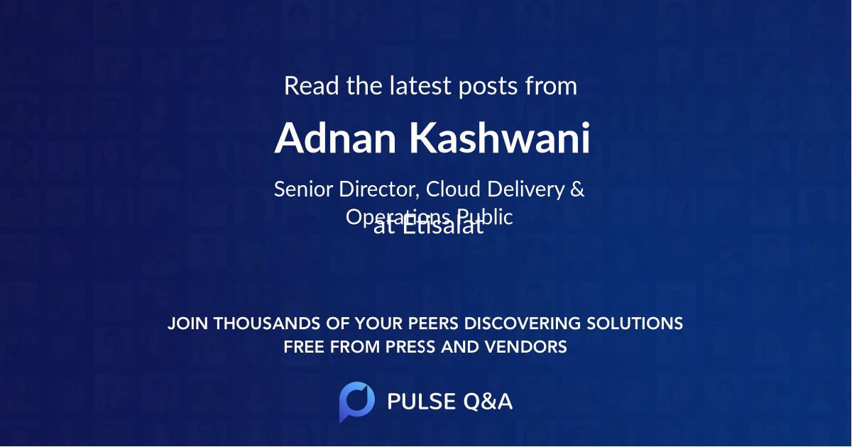 Adnan Kashwani