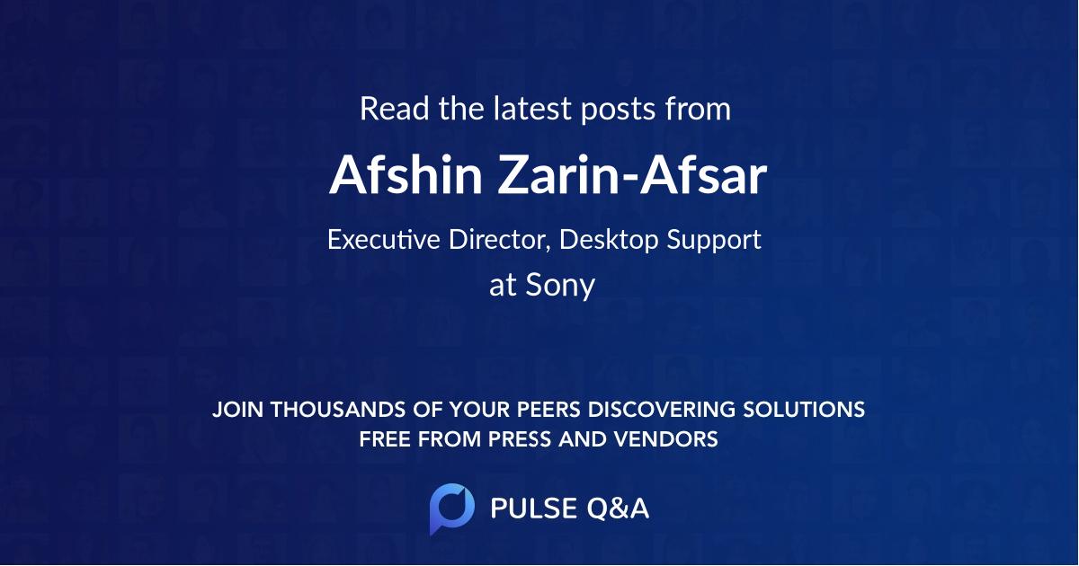Afshin Zarin-Afsar