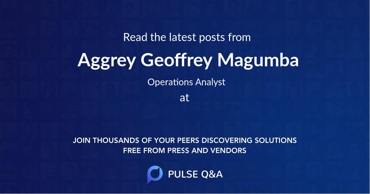 Aggrey Geoffrey Magumba