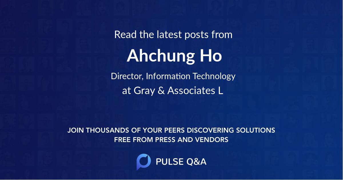 Ahchung Ho