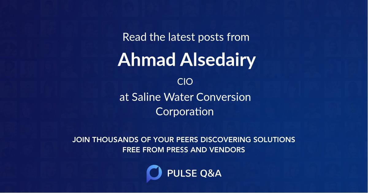 Ahmad Alsedairy