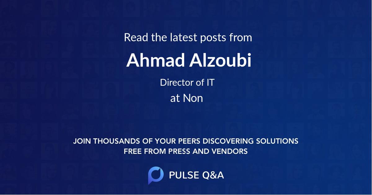 Ahmad Alzoubi