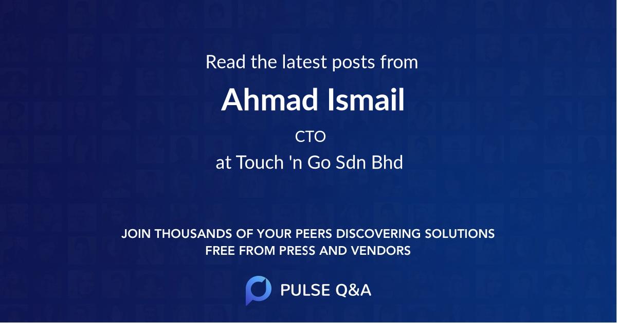 Ahmad Ismail