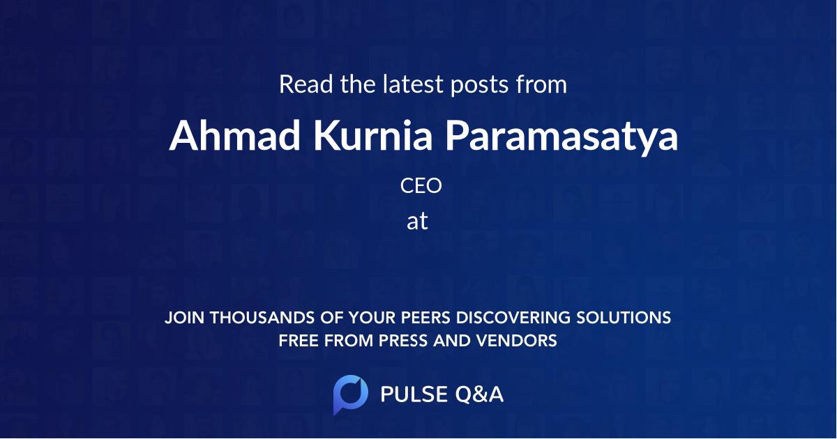 Ahmad Kurnia Paramasatya