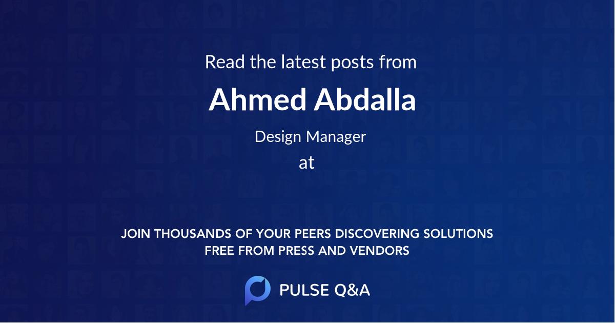 Ahmed Abdalla