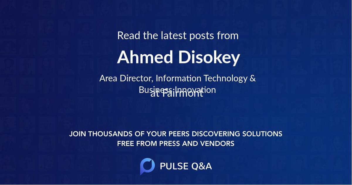 Ahmed Disokey