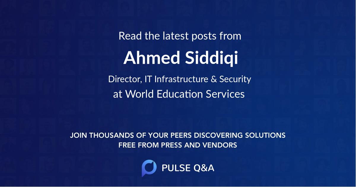 Ahmed Siddiqi
