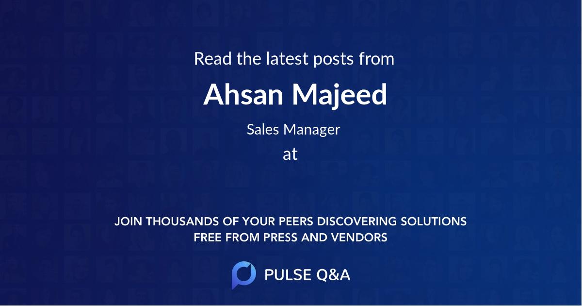 Ahsan Majeed