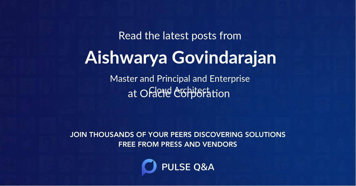 Aishwarya Govindarajan