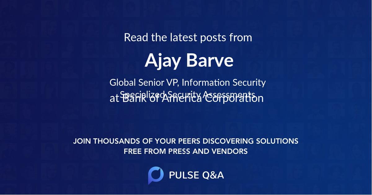 Ajay Barve