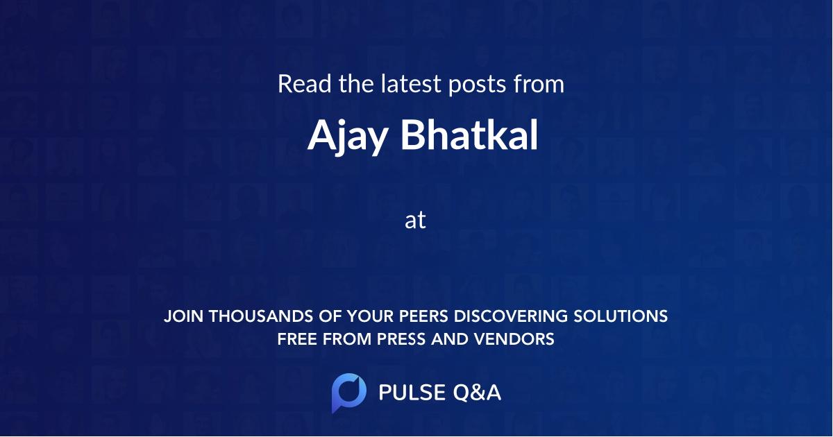 Ajay Bhatkal