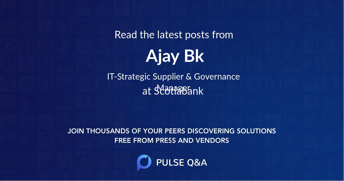 Ajay Bk