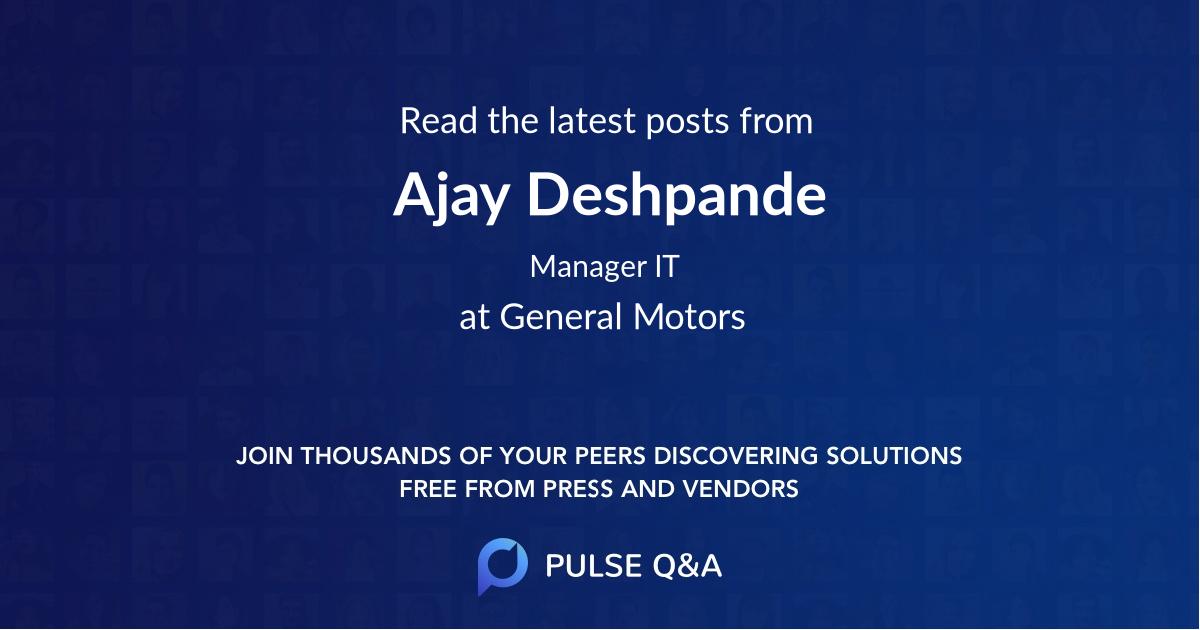 Ajay Deshpande