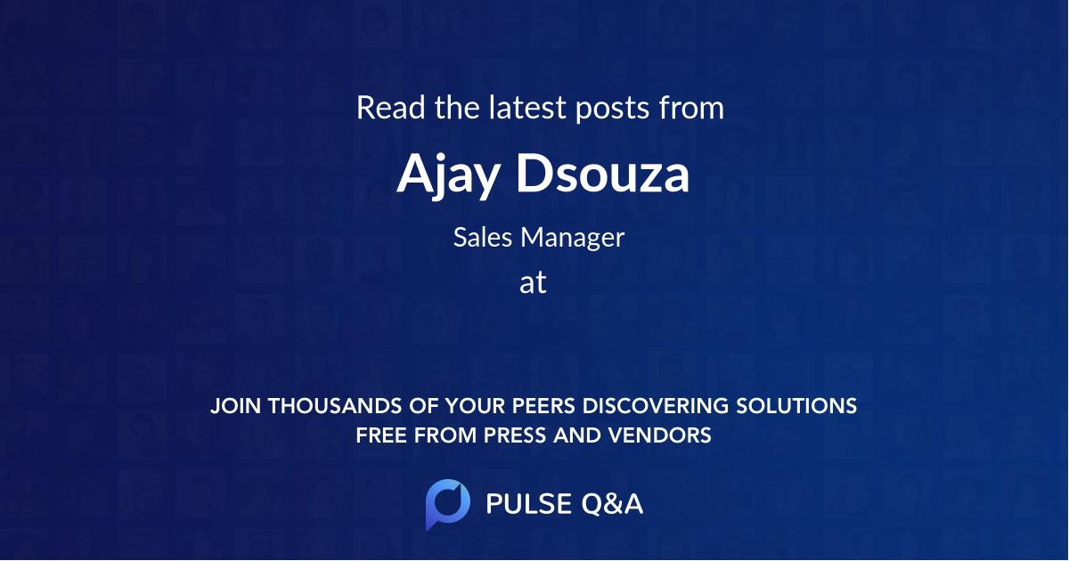 Ajay Dsouza