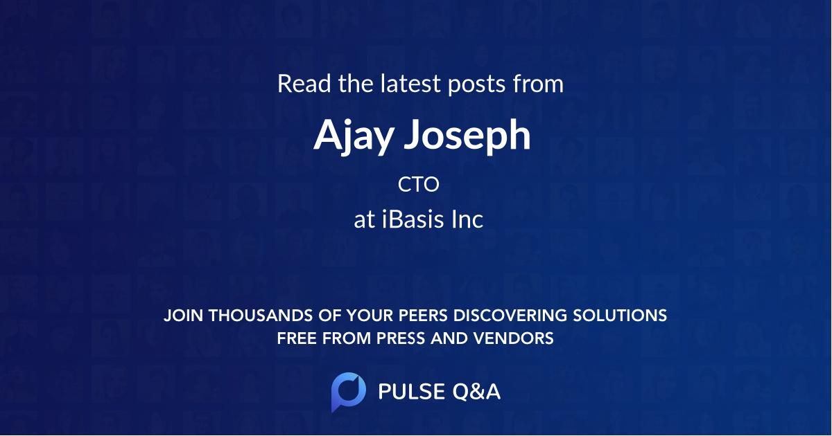 Ajay Joseph