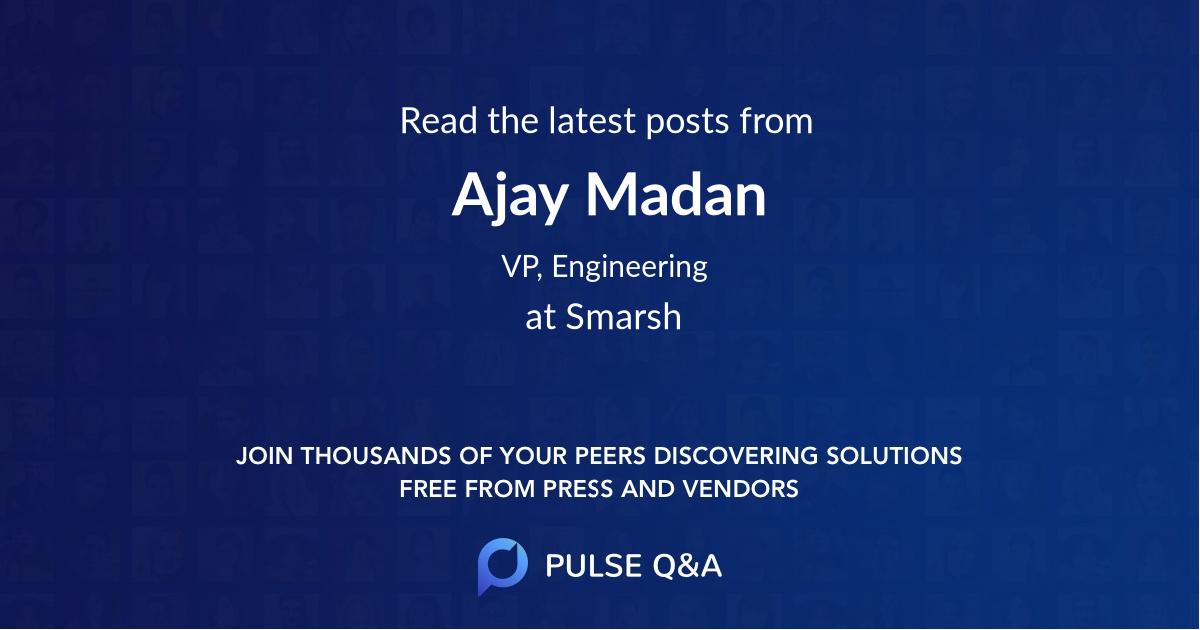Ajay Madan