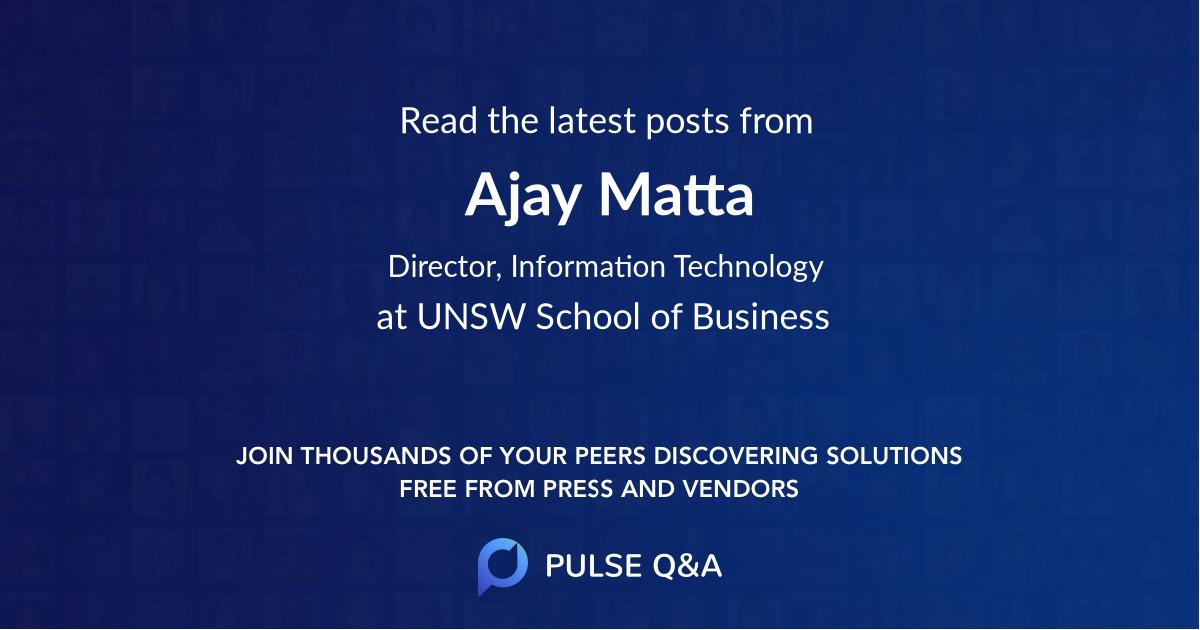 Ajay Matta