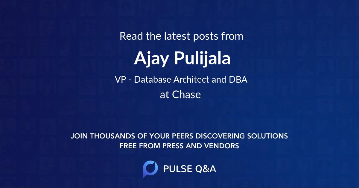 Ajay Pulijala
