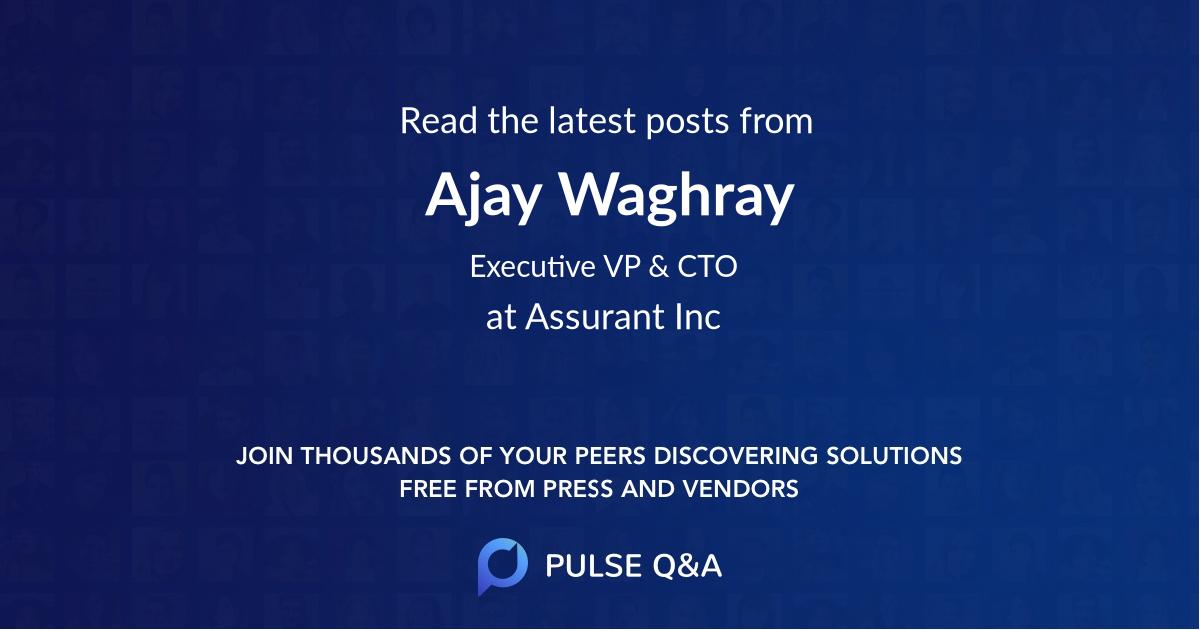 Ajay Waghray