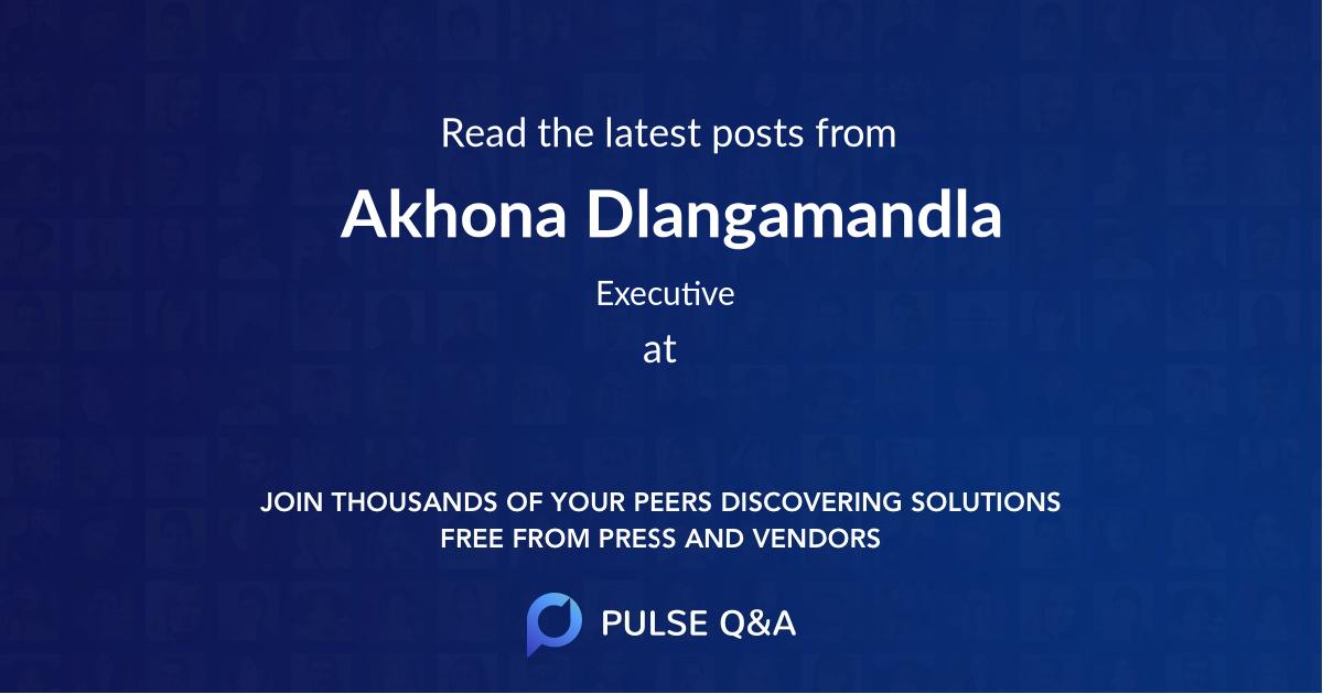 Akhona Dlangamandla