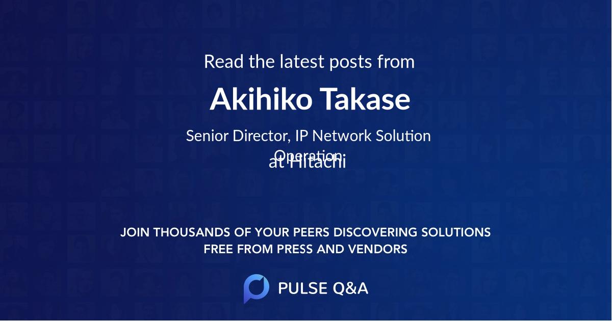 Akihiko Takase