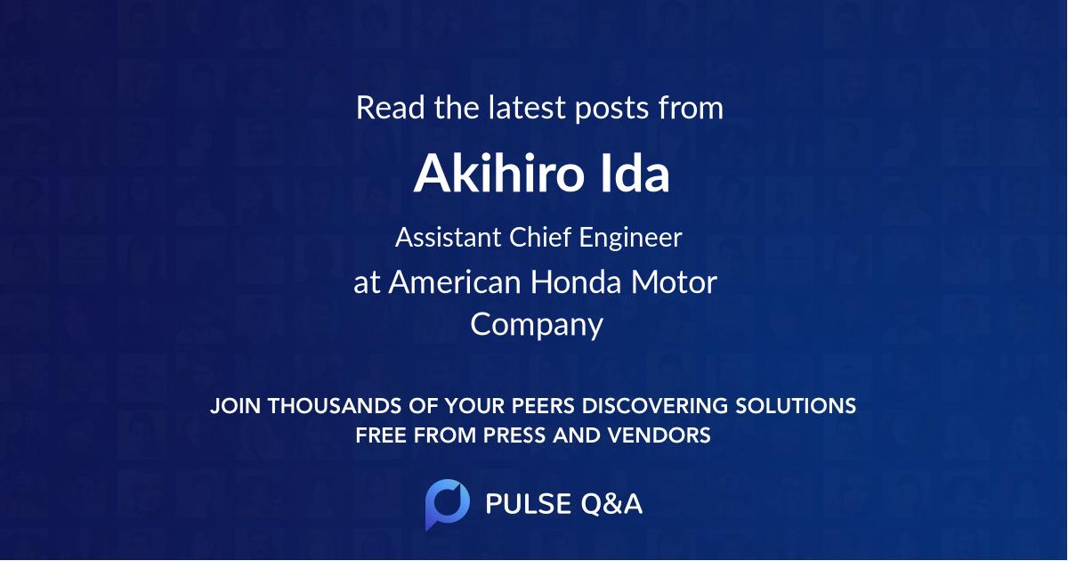 Akihiro Ida