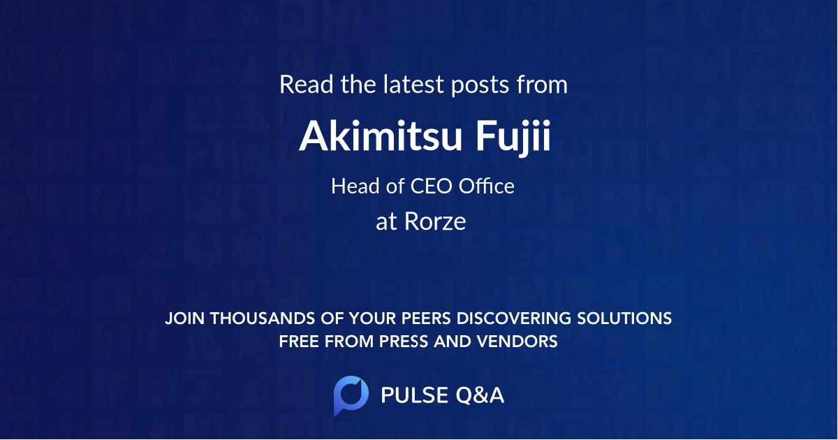 Akimitsu Fujii