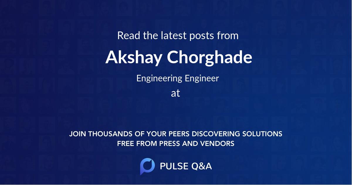 Akshay Chorghade
