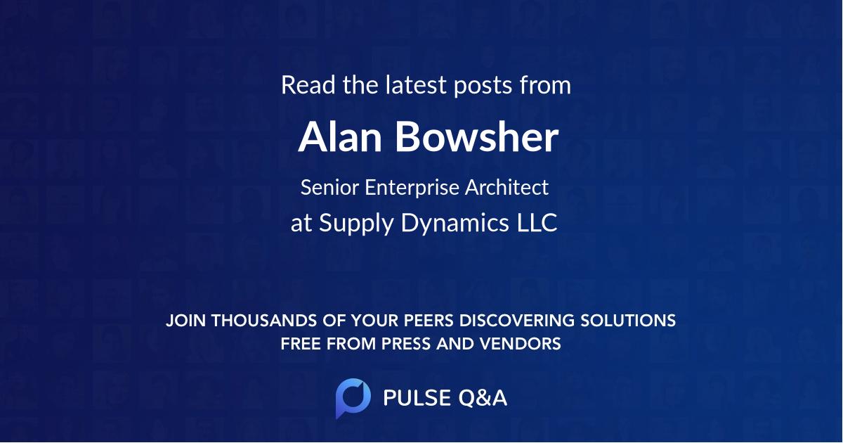 Alan Bowsher