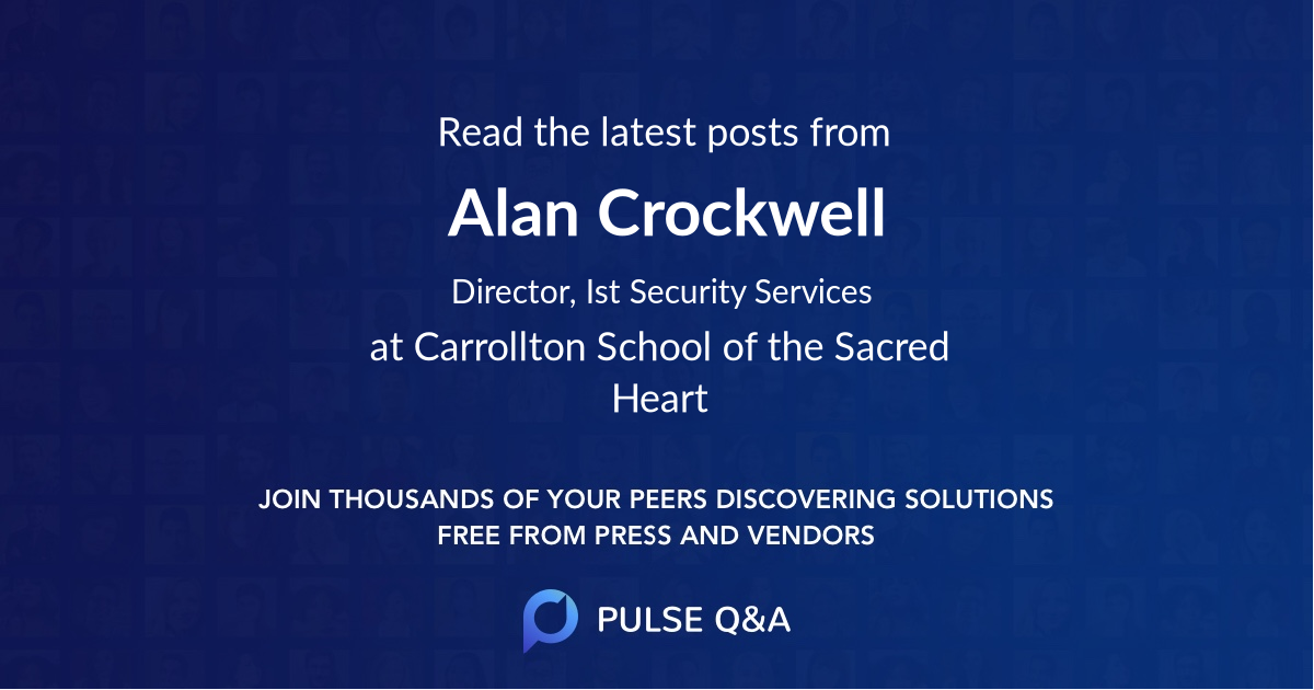 Alan Crockwell