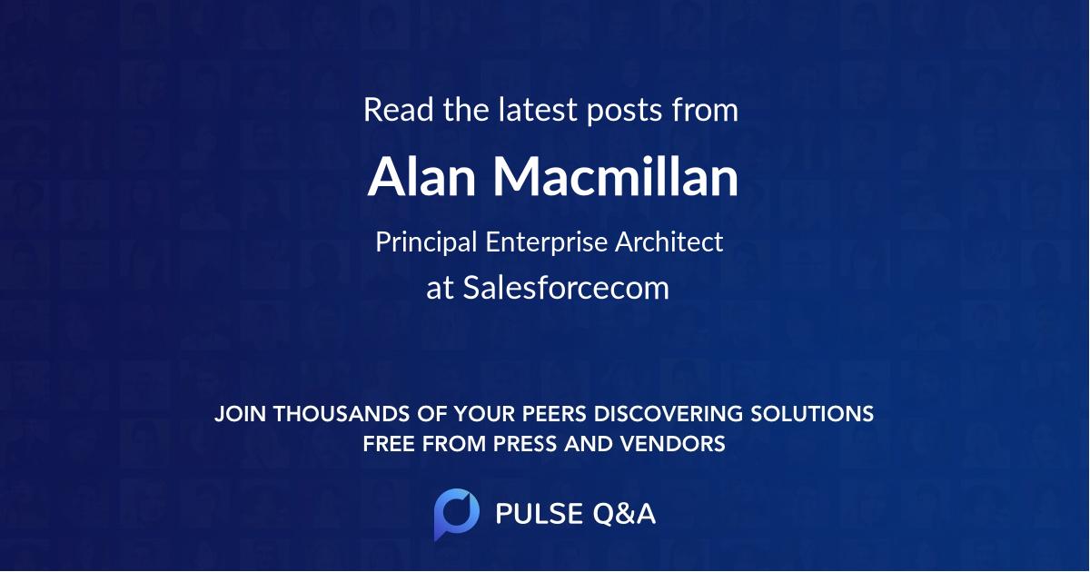 Alan Macmillan