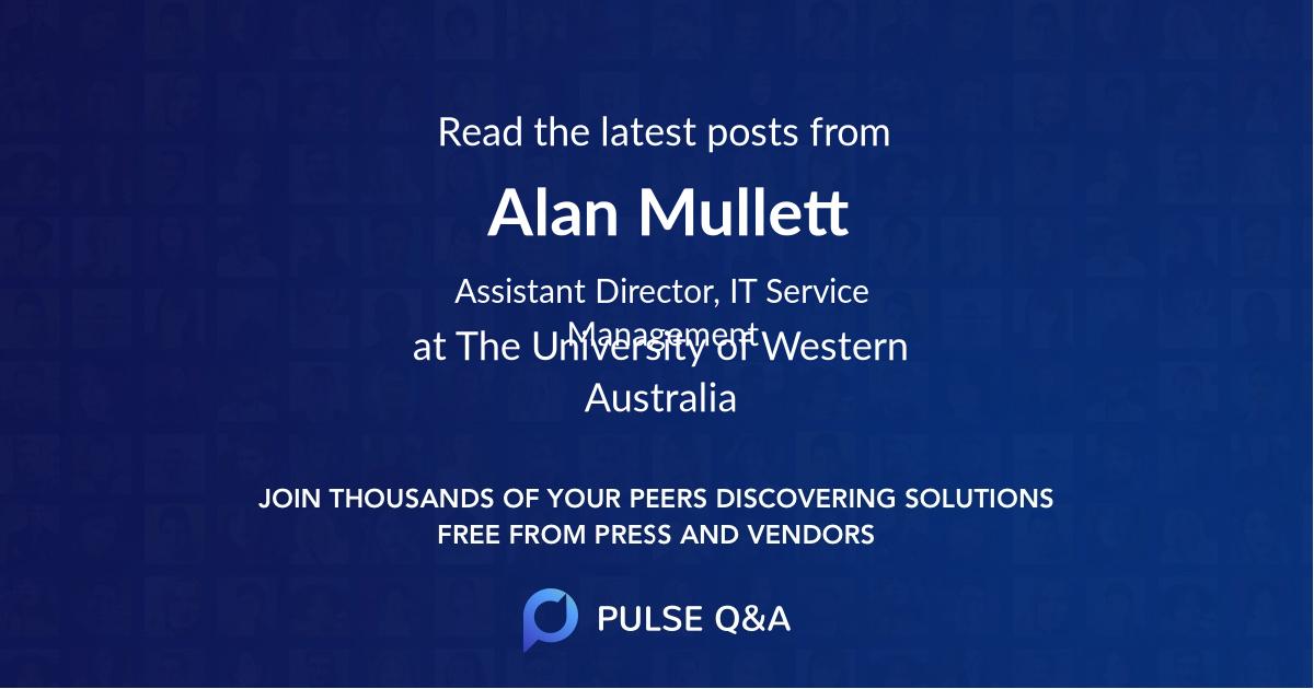 Alan Mullett