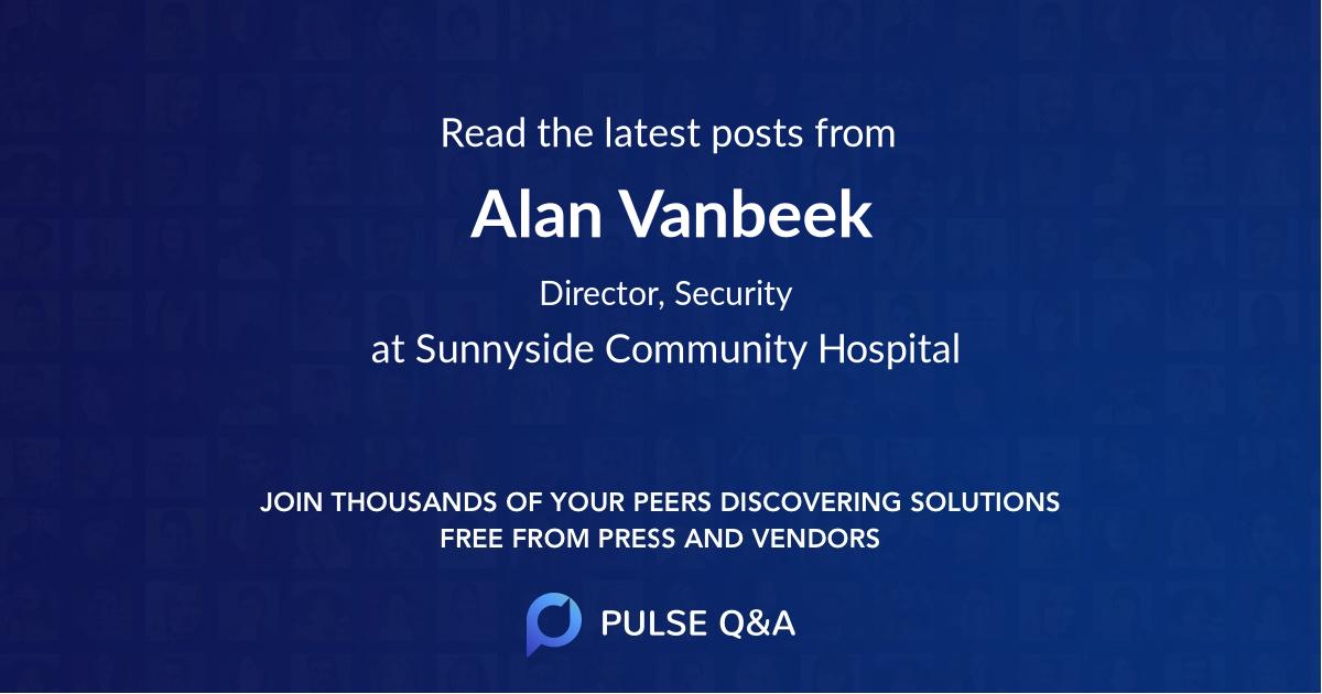 Alan Vanbeek