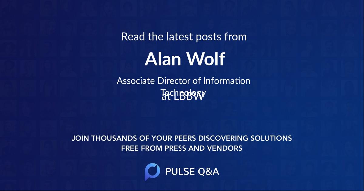 Alan Wolf