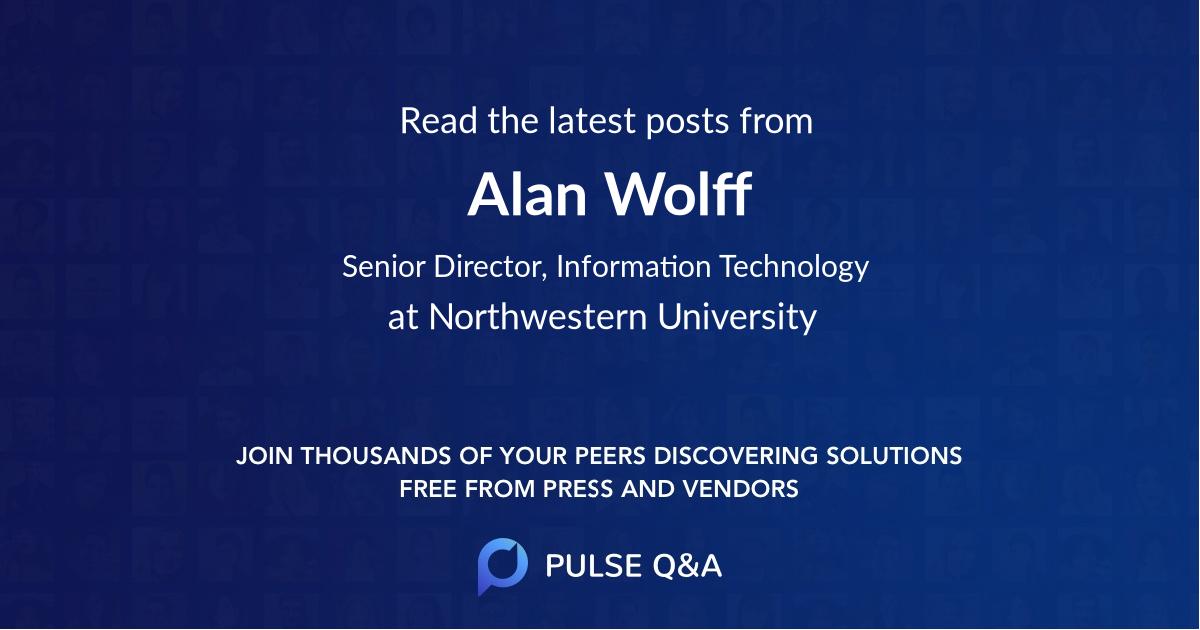 Alan Wolff