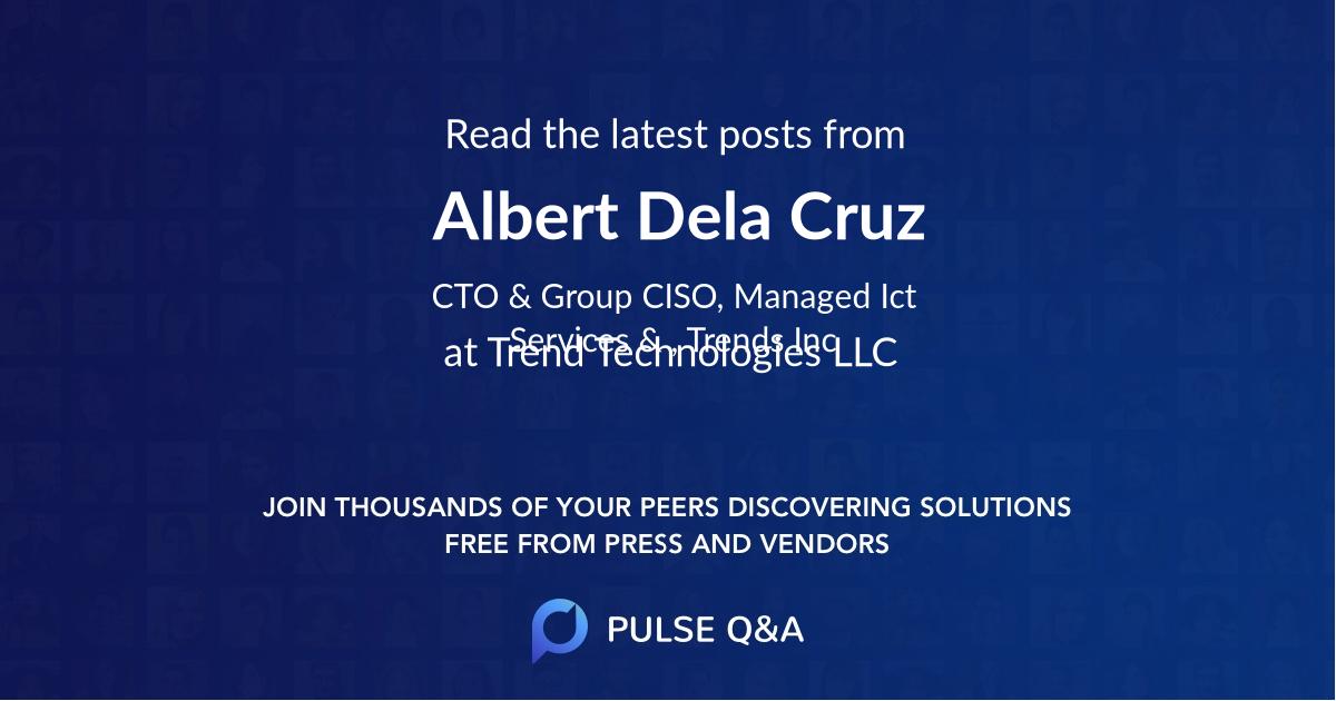 Albert Dela Cruz