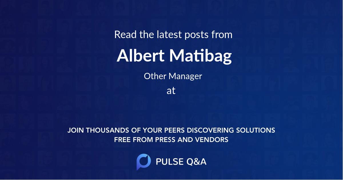 Albert Matibag