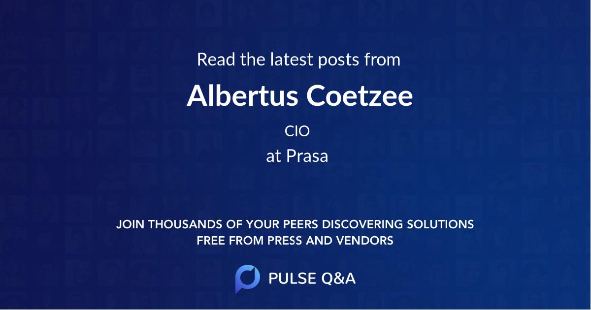 Albertus Coetzee