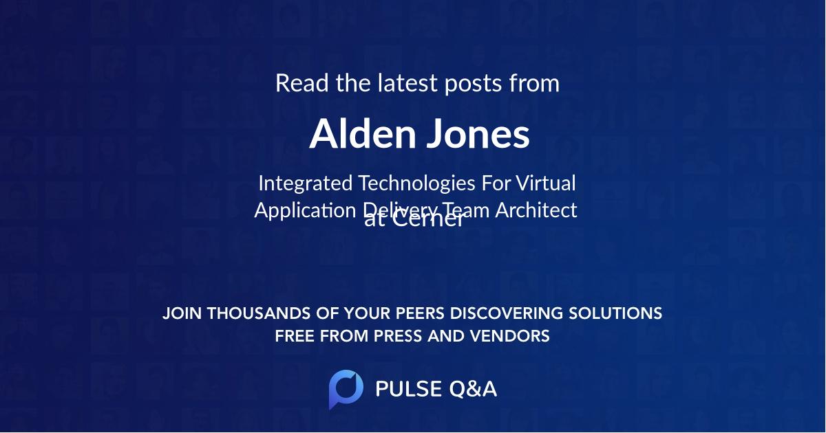 Alden Jones
